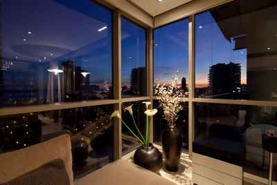 Luxury apartments in Barcelona by the sea, with a terrace and panoramic views of the coast
